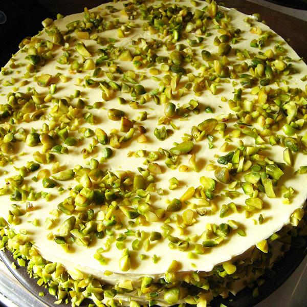 Torta vegana al pistacchio